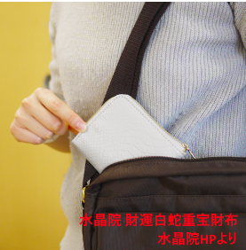 コンパクトな白蛇重宝財布