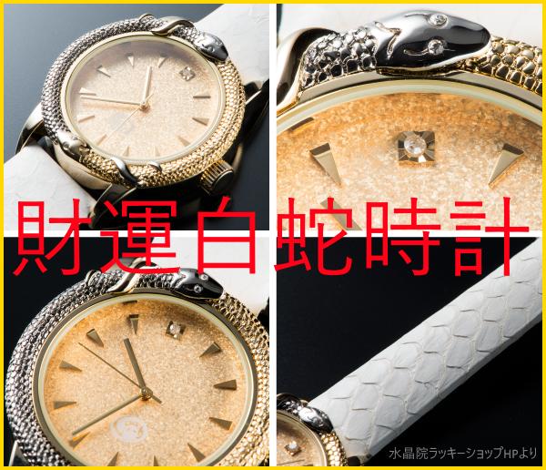 財運白蛇時計というのはコレ!!縁起の良い腕時計探し!