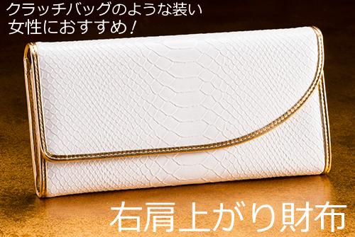 右肩上がり財布は女性におすすめ!美意識 効果をくすぐるクラッチバックのような財布