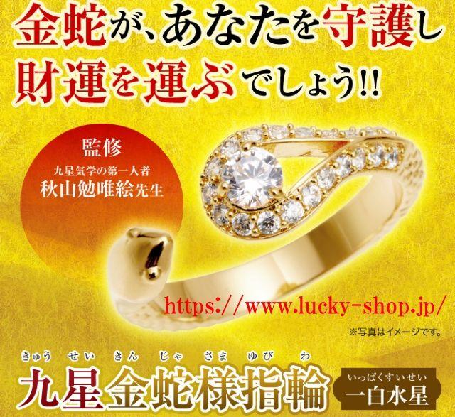 九星金蛇様指輪 水晶院