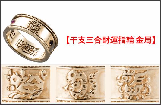 干支三合財運指輪 金局の全体図