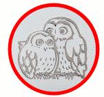 2羽の夫婦フクロウ