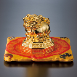 金運の銭貔貅 座布団付き