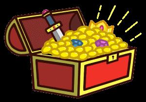 金銀財宝がいっぱい詰まった宝箱