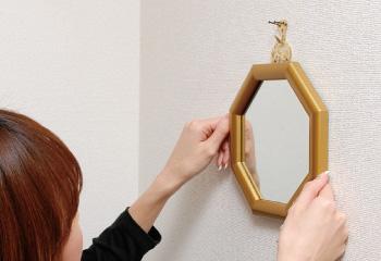 壁にかける位置で運気が変わる風水鏡