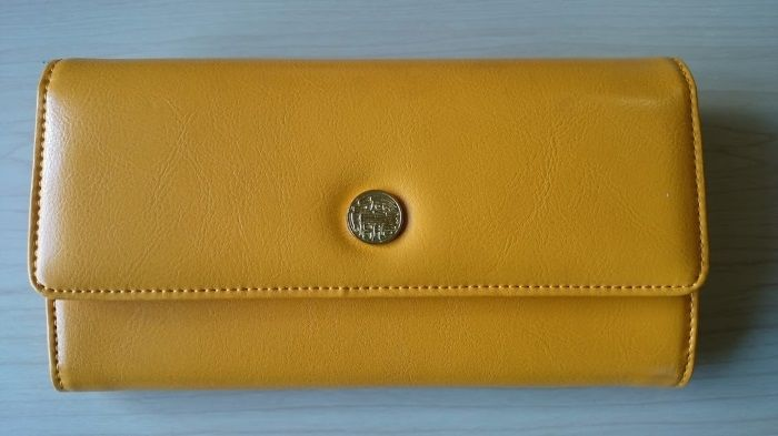 黄虎發財財布を真上から撮影